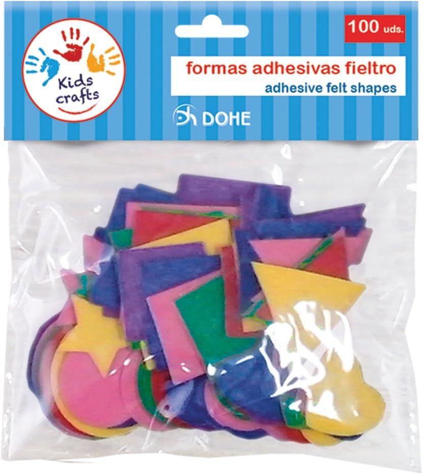 Dohe 18119 - Pack de 100 formas adhesivas, fieltro: Amazon.es: Oficina y papelería
