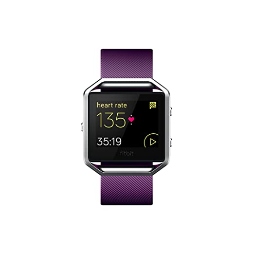 Fitbit Blaze Smart Fitness Watch Small, Plum and Silver