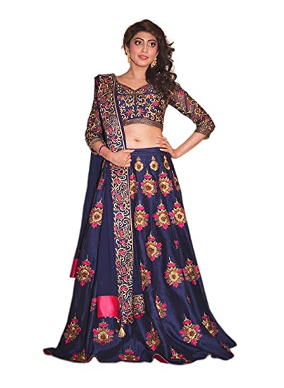 a49e4919811340 Pramukh Fashion Designer Crop-top Lehenga for Party wear  Amazon.in   Clothing   Accessories