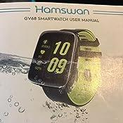 Smartwatch Impermeable IP68, [Regalo] HAMSWAN Reloj ...