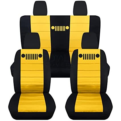 Peachy Totally Covers Fits 2011 2018 Jeep Wrangler Jk Seat Covers Black Yellow Full Set Front Rear 23 Colors 2012 2013 2014 2015 2016 2017 Lamtechconsult Wood Chair Design Ideas Lamtechconsultcom