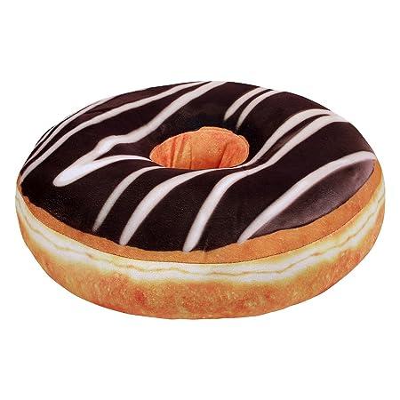 Cojín Decorativo en Forma de Donut - Glaseado de Chocolate ...