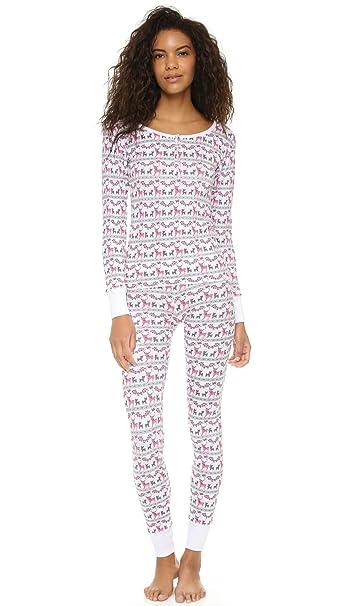 Pijama del conejo del esqu? del reno de las mujeres de Wildfox fijó tama?
