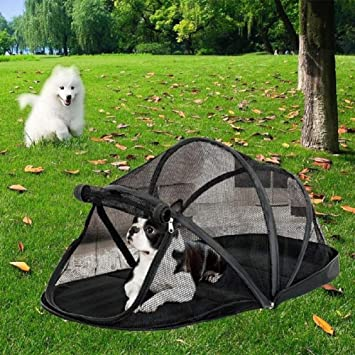 ducomi caseta para Perro, Portátil y Plegable de Interior para perros de pequeño tamaño con