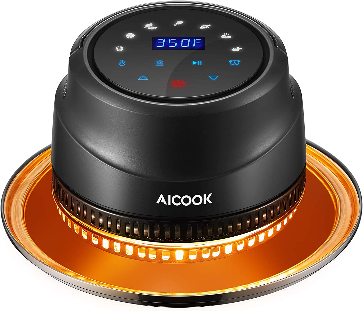 AICOOK Air Fryer Lid for Instant Pot 6&8 Qt, 7 in 1 Air Fyer Lid with LED Touchscreen, Turn Your Pressure Cooker Into Air Fryer in Seconds, Air Fryer Accessories and Recipe Cookbook Included