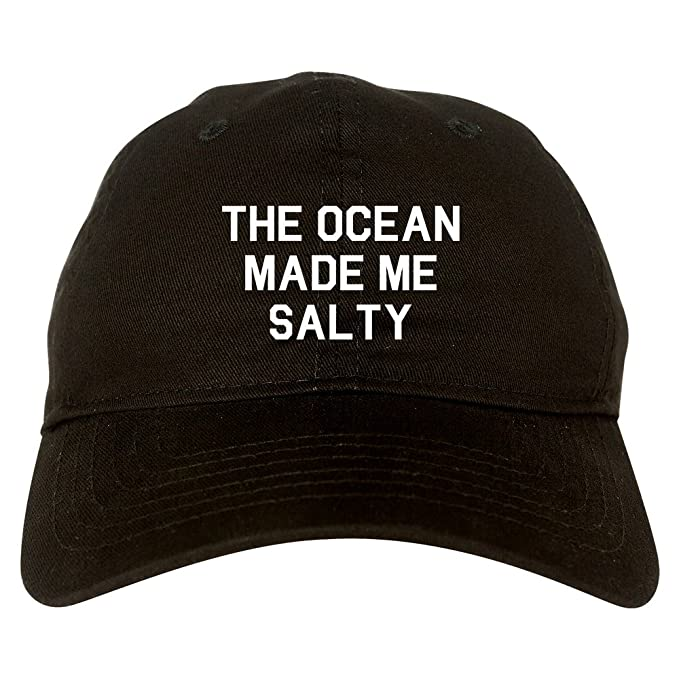 Amazon.com  FASHIONISGREAT The Ocean Made Me Salty Dad Hat Baseball ... 4458de32f67