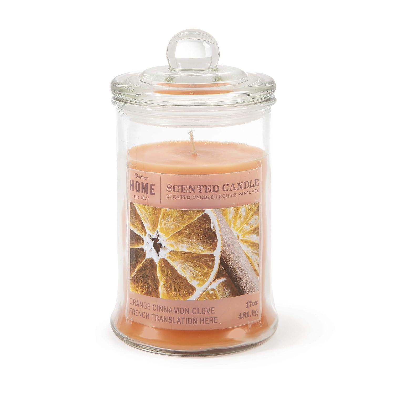 Orange Cinnamon Clove Darice Jar Candle 17 Ounces Home Décor Candles Holders