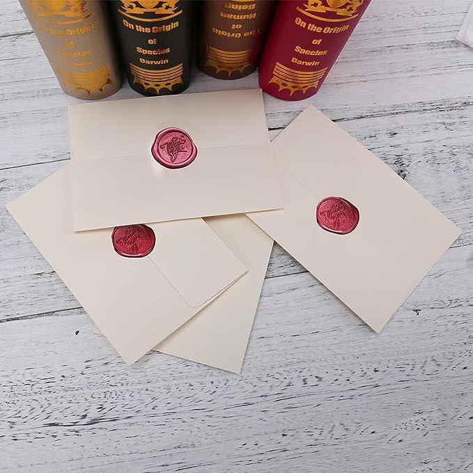 Achteckige Siegelwachsperlen Bunt Stempelwachs f/ür Versiegelung /& Dekoration von Briefe Gemischte Farbe MOPOIN 180 St/ücke Siegellack Perlen Wax Siegel Perlen Siegelwachs Set Siegelwachs Perlen