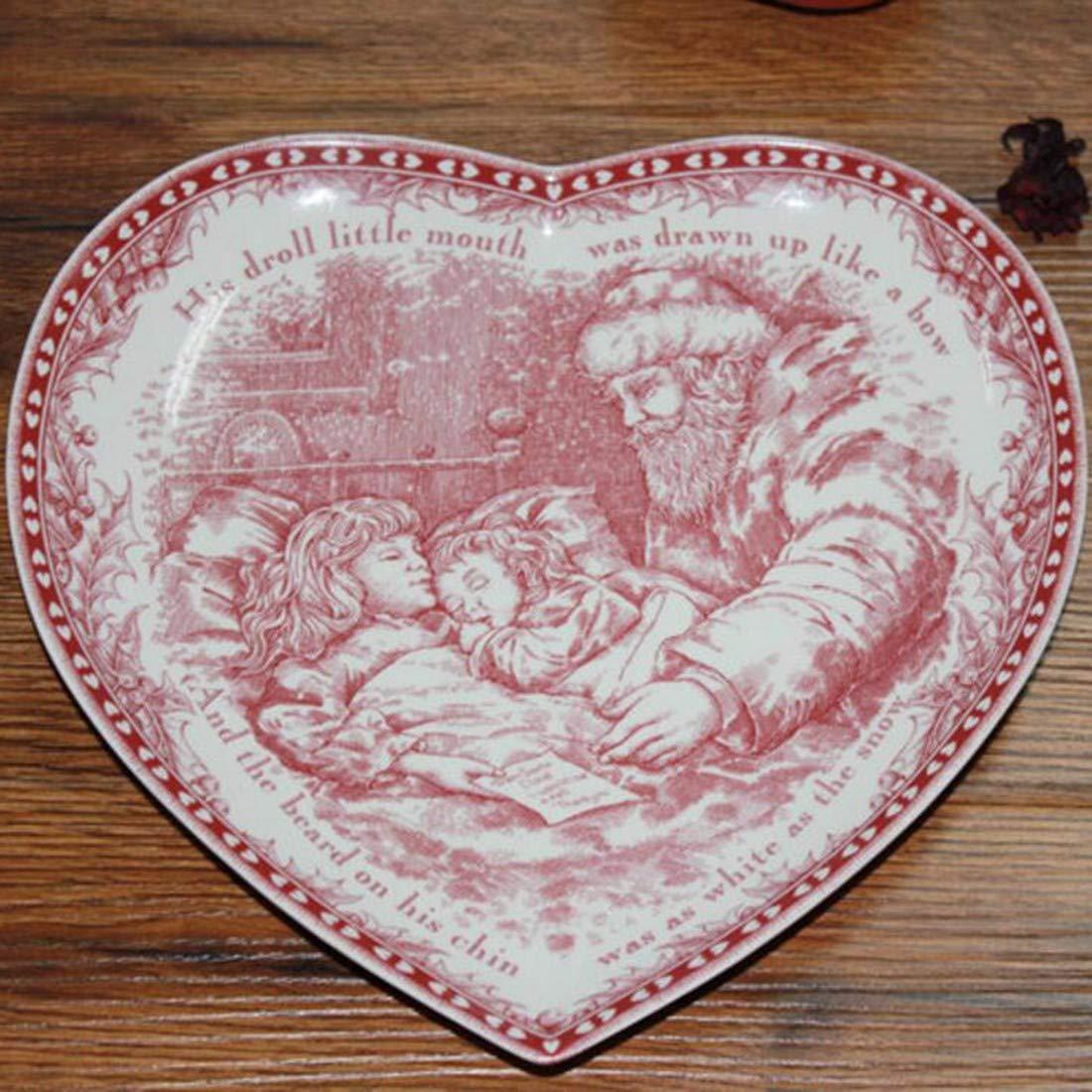 O  QPGGP-vaisselle Anglo American Christmas série d'assiettes, Plats de Plats, Bols d'eau vaisselles décoratives,h