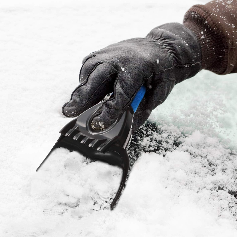 Mudder 3 Stück Auto Eiskratzer Schnee Schaber Frost Schnee Entfernung Werkzeug Für Auto Fenster Und Windschutzscheibe Kratzerfrei Mit Schaumstoff Griff Geeignet Für Auto Auto
