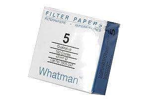 Whatman 1005-047 Qualitative Filter Paper Circles, 2.5 Micron, 94 s/100mL/sq inch Flow Rate, Grade 5, 47mm Diameter (Pack of 100)