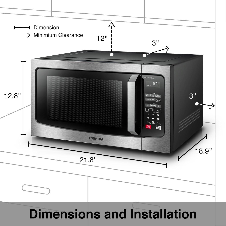 Amazon.com: Horno de microondas Toshiba EM245A5C-BS con ...
