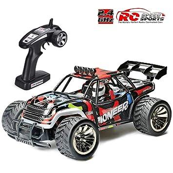 8567446282419e Voiture Télécommandée, RC Voiture Radiocommandee 2WD 1 16 Échelle RC Buggy  Course Crawler 2.4