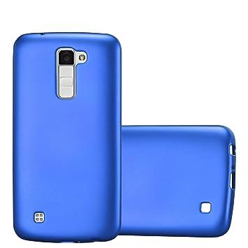 Cadorabo Funda para LG K10 2016 en Metallic Azul – Cubierta Proteccíon de Silicona TPU Delgada e Flexible con Antichoque – Gel Case Cover Carcasa ...