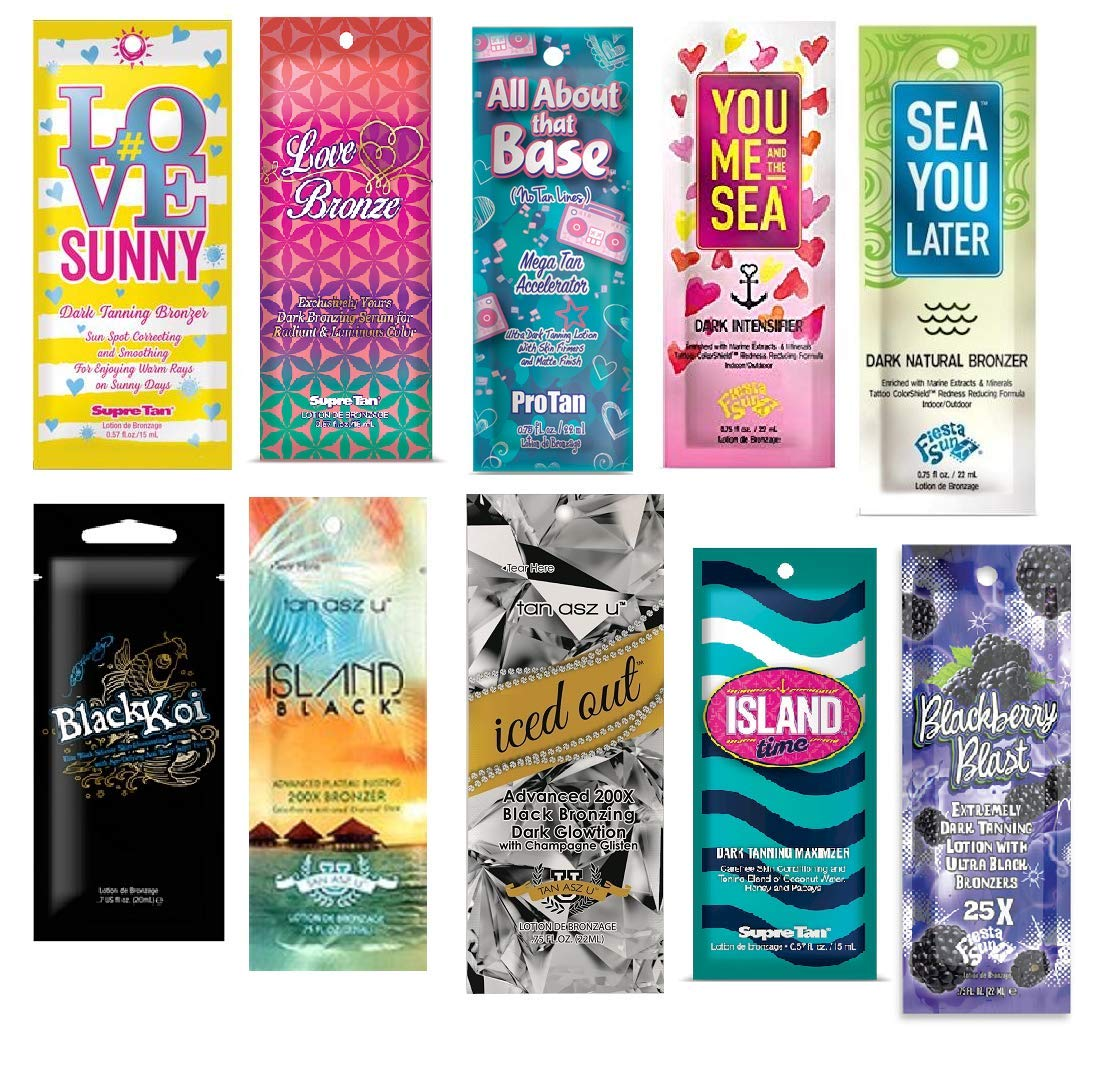 ASSORTED INDOOR TANNING BED LOTION PACKETS