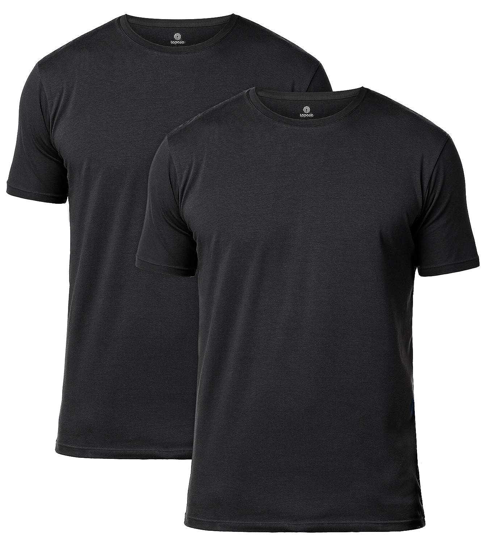 2fba18a41b34 LAPASA 2 Pack Men's Vests - Premium Stretch Cotton - Super Soft Short  Sleeve T-Shirts Stretch Undershirts Slim Fit M05, M06: Amazon.co.uk:  Clothing