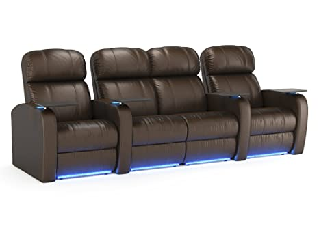 Stupendous Octane Seating Diesel Xs950 Theater Seats Brown Top Grain Leather Power Recline Space Saver Lighted Baserail Cup Holders Accessory Dock Bralicious Painted Fabric Chair Ideas Braliciousco