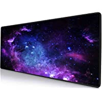 TEKXDD Gaming Mouse Pad - XXL Extended Large Mouse Mat Pad Waterproof Keyboard Mat with Non-Slip Base, Stitched Edges, Smooth Surface for Computer and Desk (800x400x2mm)