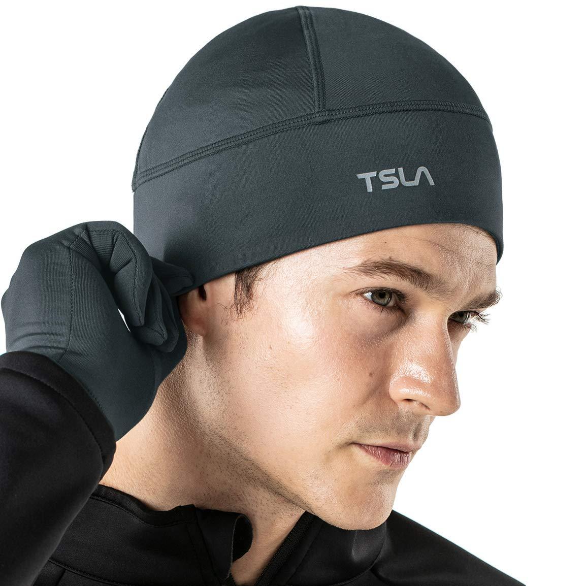 TSLA Unisex Skull Cap Thermal Fleece Line Active