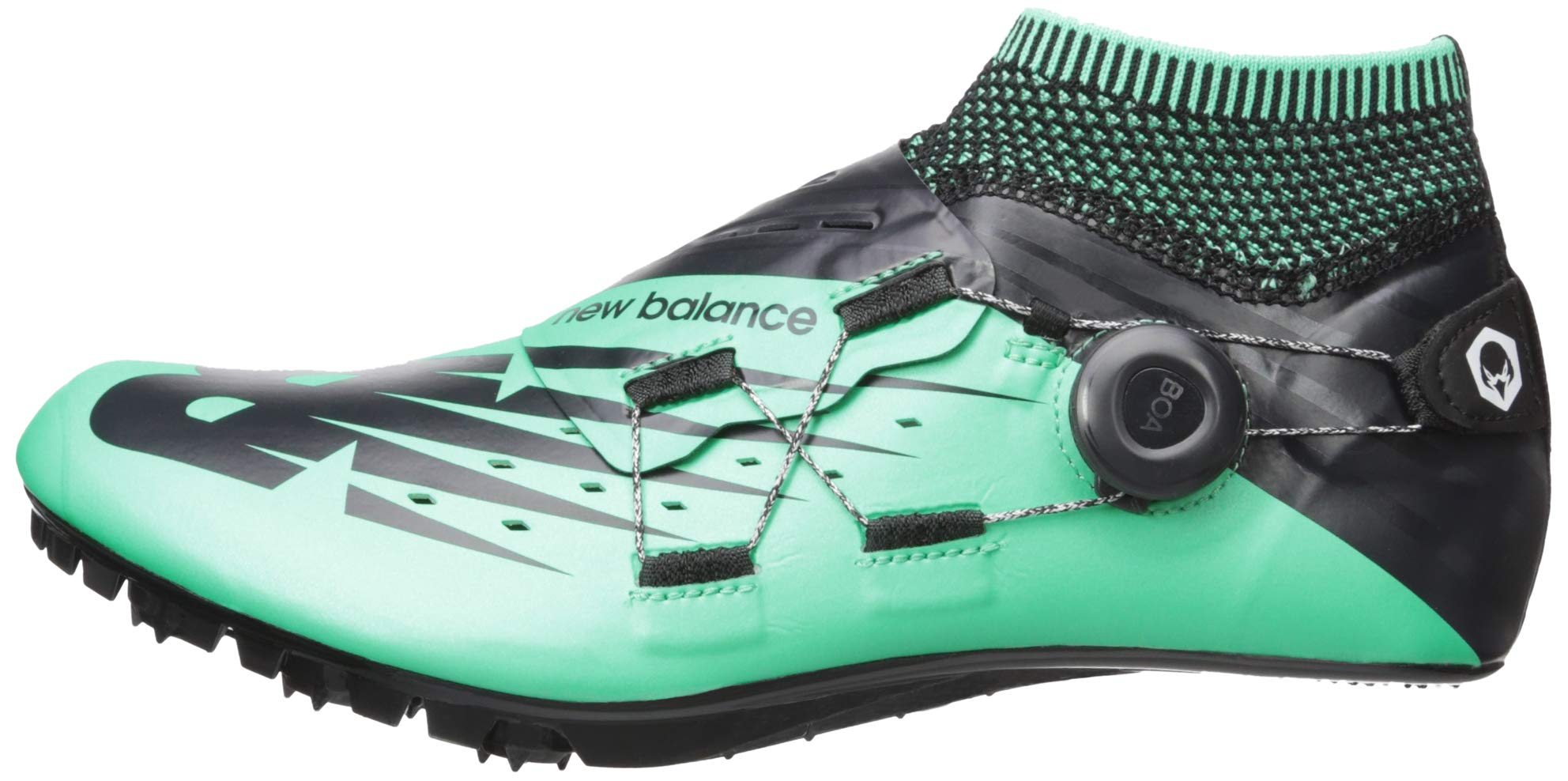 New Balance Men's Sigma V2 Vazee Track Shoe neon Emerald/Black 6 D US by New Balance (Image #5)