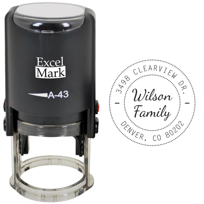 amazon com self inking address stamp excelmark style 321