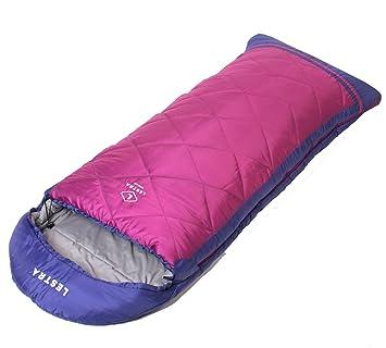 Lestra Saco de dormir Athabaska Junior (Discovery Junior Series) 160 + 30 cm, pink/violett, Reißverschluss links: Amazon.es: Deportes y aire libre