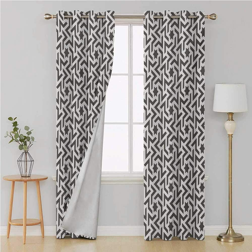 Moderna cortina con ojales para dormitorio/sala de estar para ...