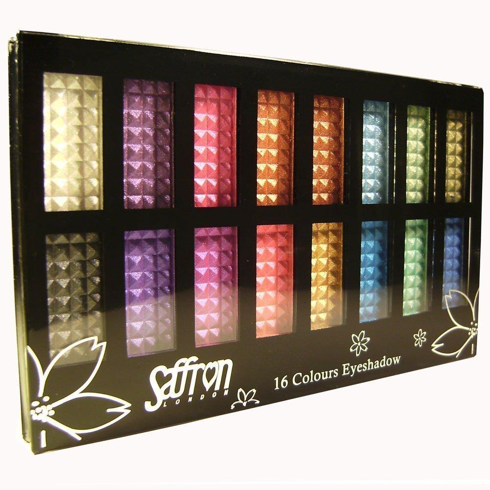 Saffron 16 Colour Powder Shimmer Eyeshadow Palette