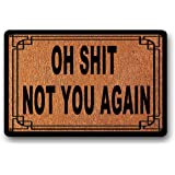 "Oh Shit Not You Again Welcome Door Mat Welcome Mat, Housewarming Gift, Interesting Doormat 23.6"" x 15.7"""