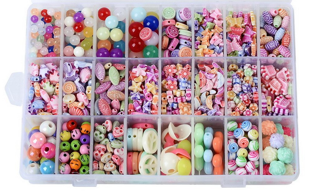 Jewelry Beads Set Accessories Toys For Children's DIY Bracelets Necklace Early Childhood Educational Toys for Children(Ocean Series) by AlphaAcc