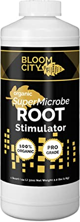 Organic Root Stimulant, Salmon and Kelp Formula, Rich with Microbes and Mycorrhizae by Bloom City, Quart (32 oz)