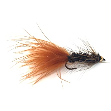 Feeder Creek Bead Head Wooly Bugger Fly Fishing Flies for Trout and Other Freshwater Fish - One Dozen Wet Flies in Various Patterns - 4 Size Assortment 6, 8, 10, 12 (3 of Each Size) - Hand Tied