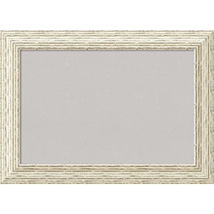 Amazon.com: Amanti Art Framed Grey Cork Board Cape Cod White Wash ...