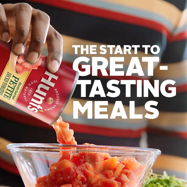 Hunts Petite tomates en dados, 14.5 oz: Amazon.com: Grocery ...