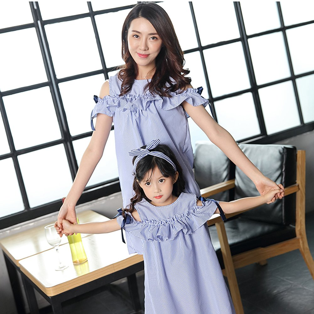 Robasiom Little Girls Dress Cotton Casual Short Sleeve Skirt for Summer Parenting Family Dress by Eden Babe (Image #5)