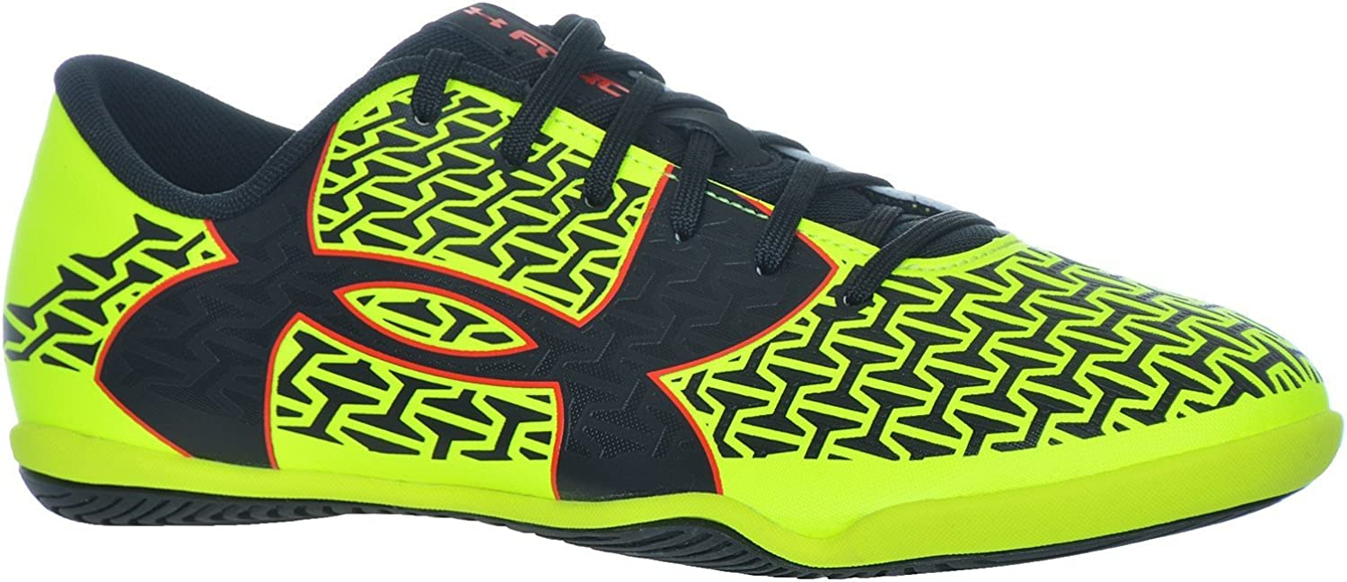 M Under Armour Mens UA CF Force 2.0 ID High-Vis Yellow//Rocket Red//Black Sneaker 8 D