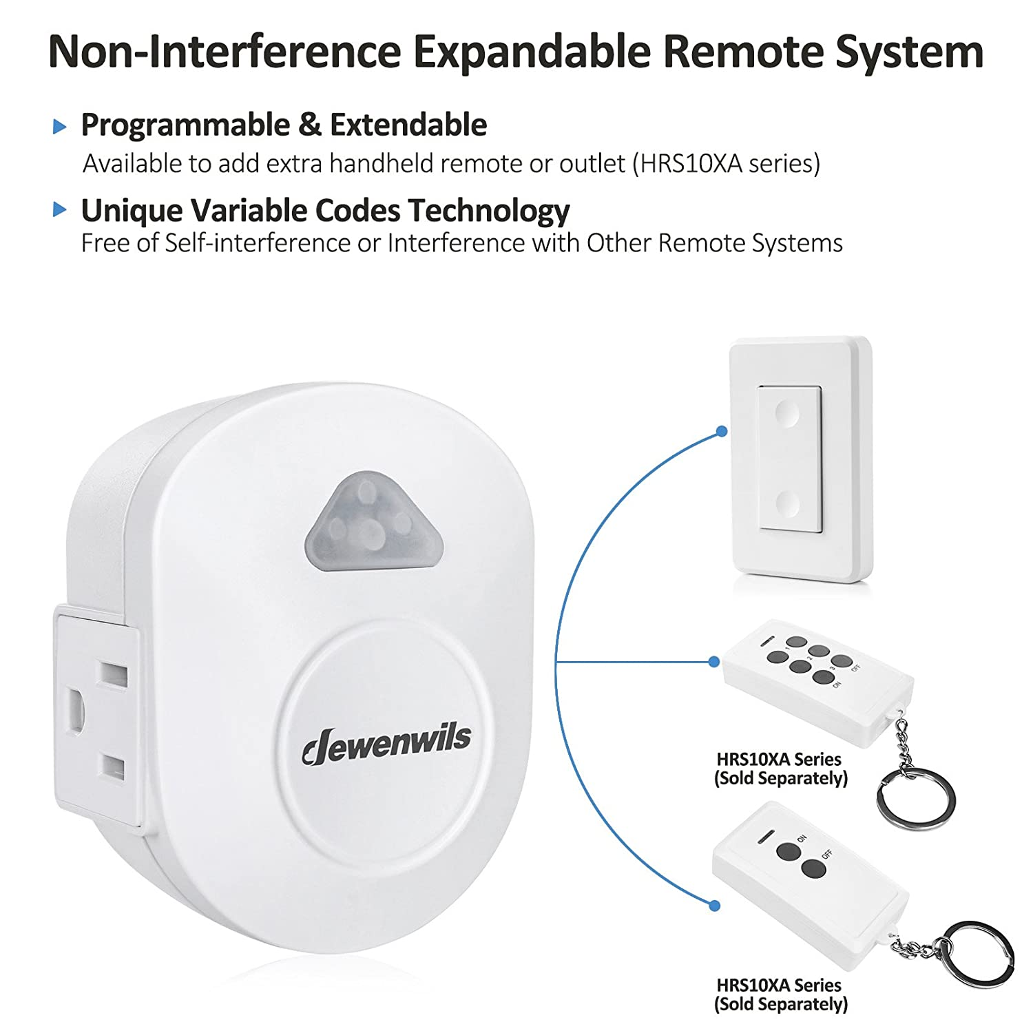 Dewenwils Wireless Wall Switch Remote Control Outlet Electrical Loop To Controls The And Lite No Gound Wires On Off Light For Lamp Interference 15 Amp Heavy Duty 100 Rf Range