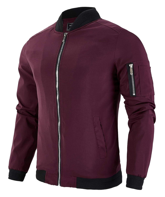 3e706401324 Multi pockets for keeping essential items  2 front slash pockets  1 zipper  pockets on left sleeve  1 inner secure pocket. YSENTO Mens cotton bomber  jacket ...