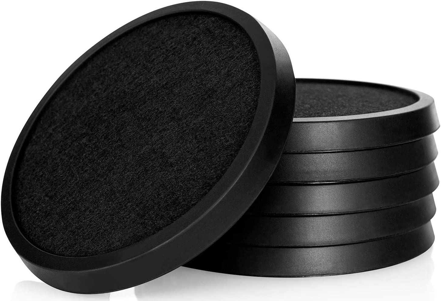 Comfortena Silicone Absorbent Coasters for Drinks | Protect Furniture from Water or Condensation Damage