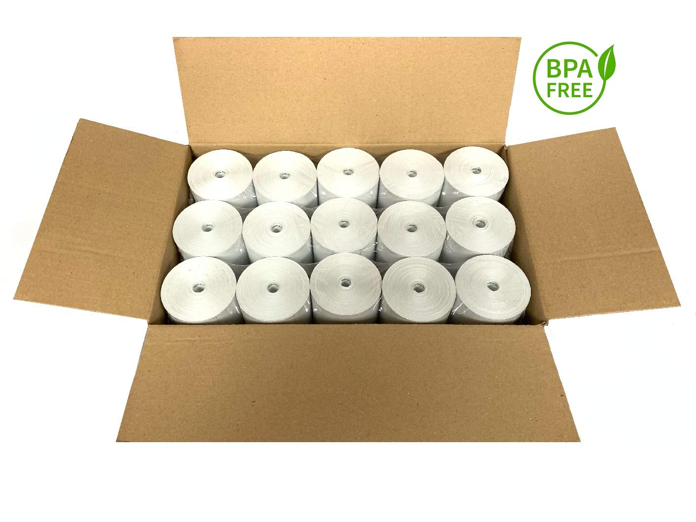 BAM POS Thermal Paper Rolls 3 1/8 x 190 Eco Lite Pack (30 Rolls) by BAM POS