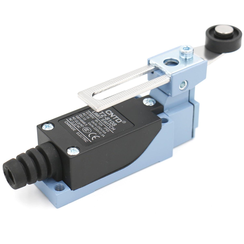 Heschen Cntd Limit Switch Tz-8108Rouleau réglable Levier 10A 250VAC Spdt momentané pour CNC Moulin Plasma IP65