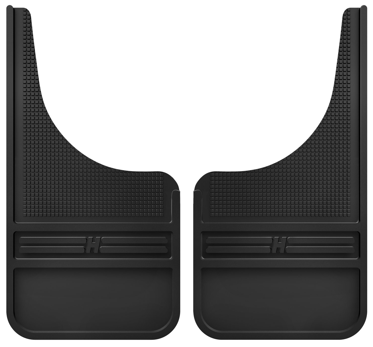 Husky Liners 55000 Black Universal Front Mud Flap Without Weight, 1 Pack