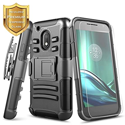 moto G Play 4th Gen Case Armor Kickstand Cover Gray For Motorola Moto G4 Play