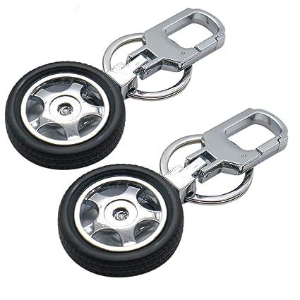 Buorsa - Llavero giratorio de rueda de coche para llaves ...