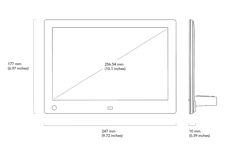 Nix Advance - 10 Zoll Widescreen Digitaler Bilderrahmen: Amazon.de ...