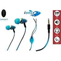 Ionix Model Hands-Free Earphone with Mic for Android Mobiles Universal Type,Deep Base Sound Output (Color May Vary) (Universal Android Handfree)