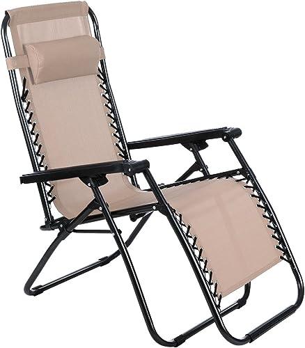 Opino Khaki Zero Gravity Special Outddoor and Indoor Recliner Chair US Stock