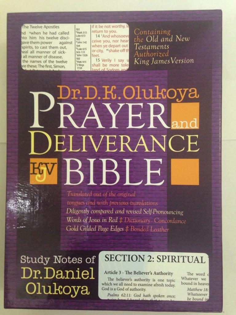 Prayer and Deliverance Bible (Big): Dr D. K. Olukoya: 9781587122040:  Amazon.com: Books