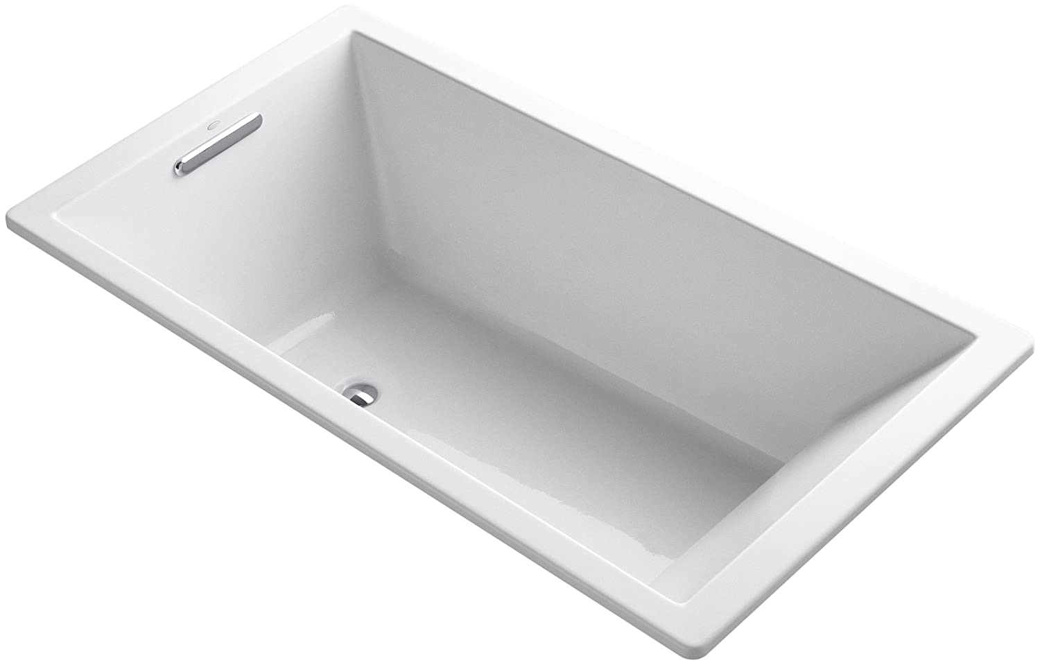 KOHLER 1136-0 Underscore Rectangle Bathtub, 66 5.5 , White