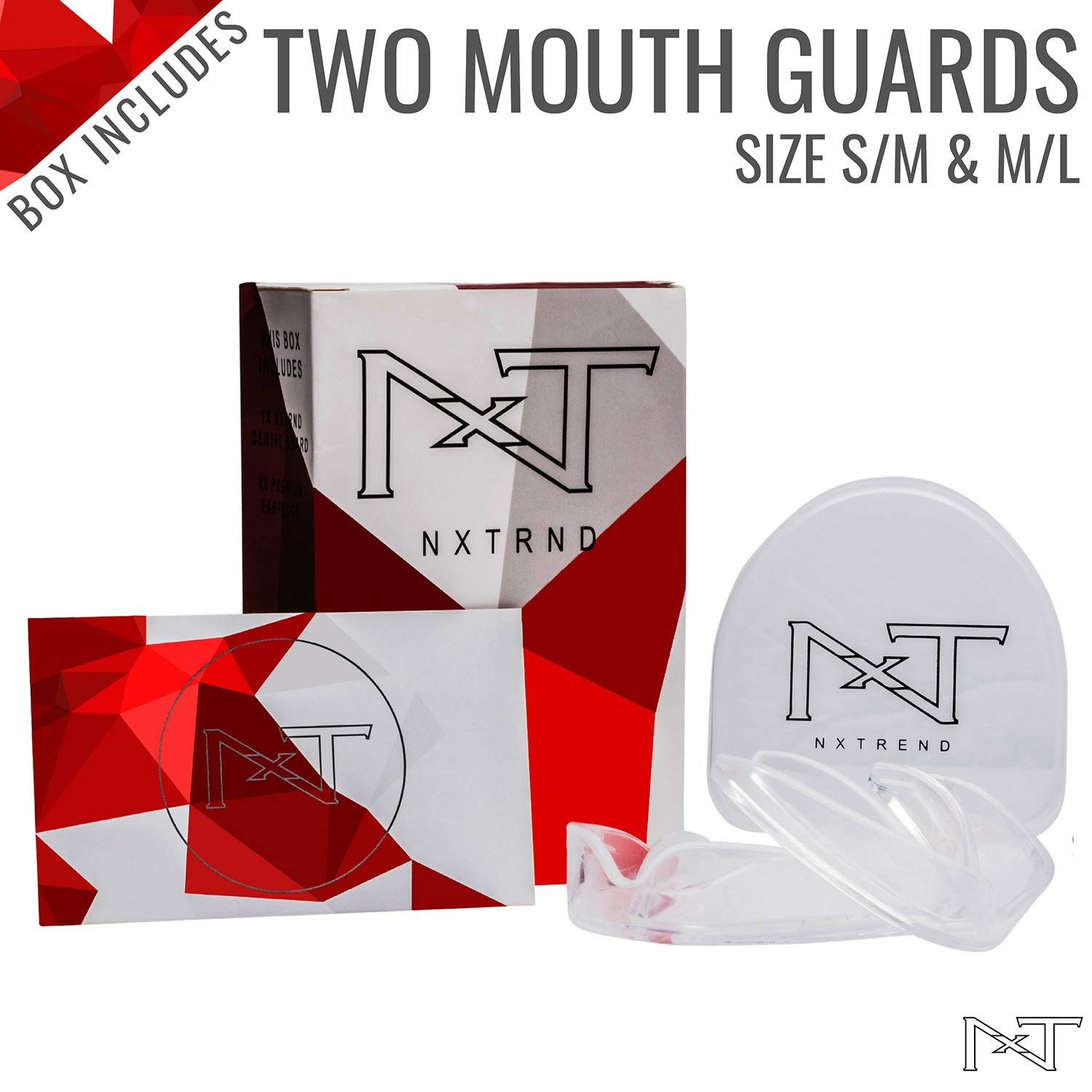 Mouth Guard for Grinding Teeth – Professional Night Guards for Teeth Grinding, Mouth Guard Sports, Dental Sleep Guard Stops TMJ, Bruxism, Teeth Clenching, Anti-Bacterial Case & Earplugs Included by NXTRND USA (Image #3)